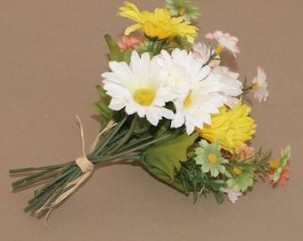 Small Wildflower Daisy Bouquet - Artificial Flowers, Silk Flower Heads
