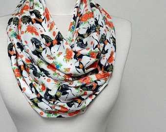 Horse Pattern Infinity scarf, Circle scarf, Loop scarf, Tube scarf, Scarves, Shawls, spring - fall - winter - summer fashion Sale