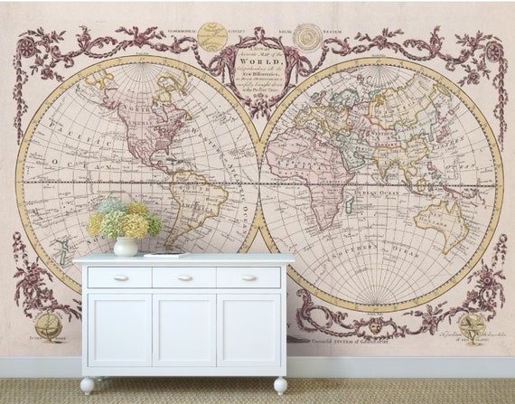 World map wallpaper antique world map wall mural vintage world map wallpaper antique world map wall mural vintage old map self adhesive vinly world map wall decal old world map wall mural gumiabroncs Images