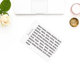 Perky weekly title-en-Stickerset-Watercolour sticker-Pretty planning-scrapbooking-bullet journaling
