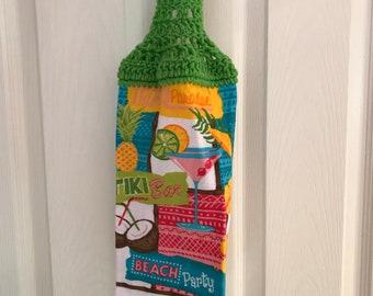 Beach Party Tiki Bar Hanging Kitchen Towel