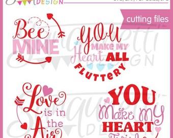 Valentine Word Art, Valentine SVG, Love SVG, DXF, Valentine Clipart, Love Clipart, svg Files for Cutting Machines Cameo or Cricut