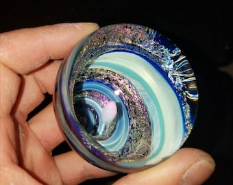 "2"" Dichroic Vortex Marble Floating Opal"