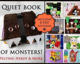 Harry Potter Craft, Quiet Book PATTERN, Felt Activity Book, DIY Felt Book Tutorial, Toddler Gift, Patterns for Cover and 8 Quiet Book Pages