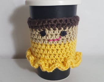 Princess Cup Cozy, Cup Cozy, Coffee Sleeve, Crochet Cup Cozy, Crochet Coffee Cozy, Mug Cozy, Mug Sleeve