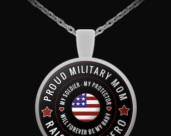 Proud Military Mom Necklace