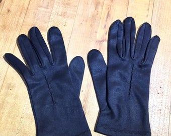1950's Black Nylon Women's Gloves