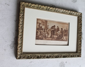 Illustration, reproduction, antique print, the slave trader, Hel Braun, Clement and Cie