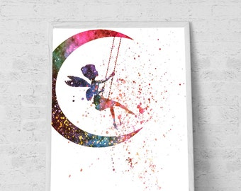 Fairy wall Art Fairy Print Fairy Art Fairy Room Decor Fairy Poster Art Fairy Wall Decor Fairy Nursery Decor Nursery Art