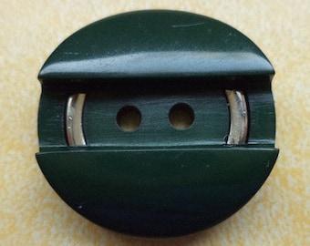 10 dark green buttons 23mm (6355) button Green