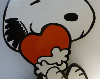 Heart Hugging Snoopy
