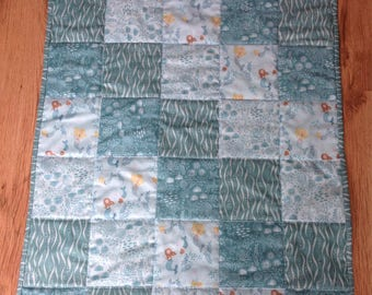 handmade all cotton baby quilt