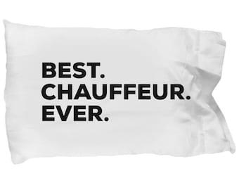 Chauffeur Pillow Case, Gifts For Chauffeur, Best Chauffeur Ever, Chauffeur Pillowcase, Christmas Present, Chauffeur Gift