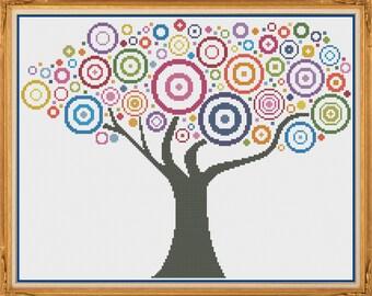 Tree 3 - Counted Cross Stitch Pattern (X-Stitch PDF)