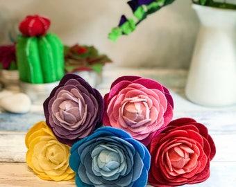 Felt Peony Bouquet, Felt Bridal Bouquet, Peony Bouquet, Boho Bouquet, Wildflower Bouquet, Felt Wildflowers, Felt Peonies, Mothers Day Gift