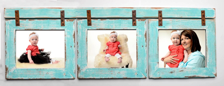 Barnwood collage turquoise frame 3 4x6 multi opening zoom jeuxipadfo Gallery