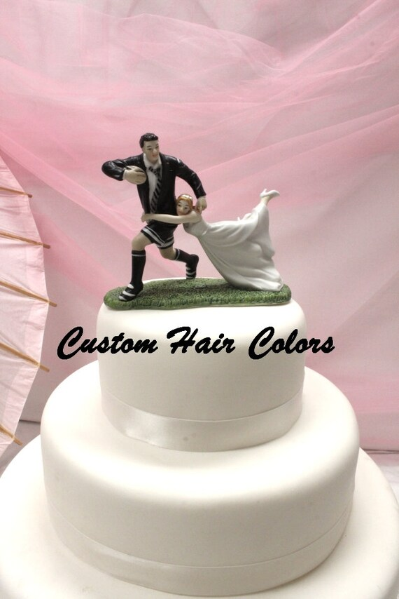 rugby themed wedding cake toppers wedding cake topper and groom wedding cake topper 19467