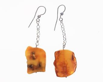 Natural Baltic amber earrings 6,7g