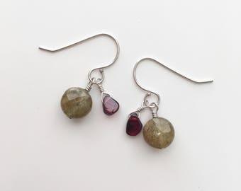 Argyle Garnet Earrings