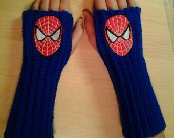 SPIDERMAN MARVEL Arm warmers / Fingerless gloves / Wrist warmers handmade