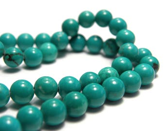 Round Sinkiang Turquoise Real Gemstone Beads 4mm