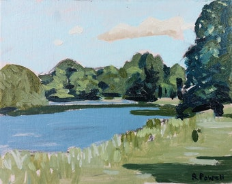 Original Oil Painting on board * Cutler Brook Kedleston Park
