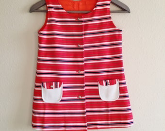 Vintage Shift Dress 1960s Sleeveless