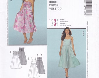 FREE US SHIP Burda 7388 Sewing Pattern Summer Strapless Sweetheart Dress Size 6 8 10 12 14 16 18 Bust 30 31 32 34 36 38 40 New