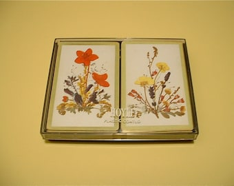 SALE Vintage Playing Cards Two-Pack Deck (Pressed Flowers)