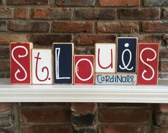 St. Louis Cardinals Decorative Blocks