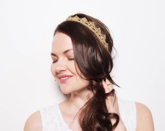 Rustic Wedding Headpiece, Beach Wedding Headband, Wedding Tiara, Gold Tiara Headband, Bridal Headpiece, Silver Crown, Silver Bride Crown