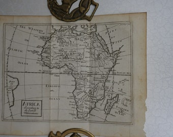 1733 John Senex Map of Africa