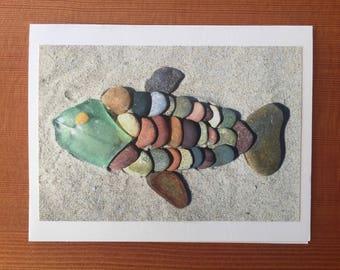 Greenhead Fish notecard - Saquish Beach, MA