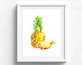 Pineapple wall art, pineapple print, pineapple decor, pineapple wall print, pineapple poster, purple pineapple art, pineapple home decor