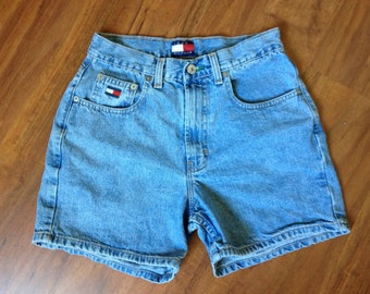 SALE 1990s Tommy Hilfiger High Waisted Jean Shorts