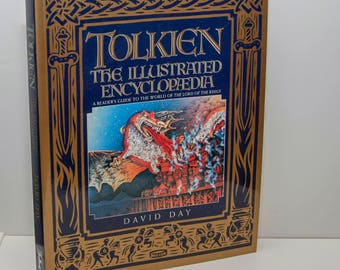Tolkien - The Illustrated Encyclopedia c.1992 279 pages with index LIKE NEW 100+ images Middle Earth Bilbo Baggins Elrond Rivendell