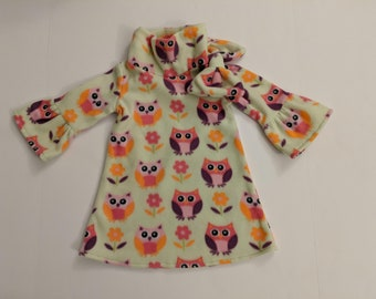 Elke Owl Fleece Dress