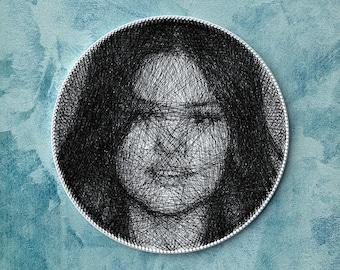 Custom portrait from photo, portrait of Selena Gomez, personalized gift, unique wall decor, home decor, unique gift, custom portrait