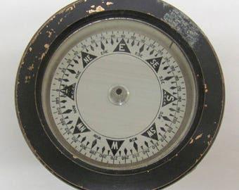 Vintage Steampunk Heavy Duty Metal Cased Compass
