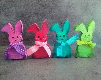 Four adorable Easter bunnies