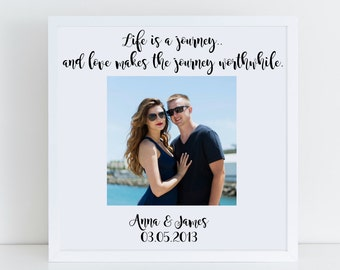 Life Is A Journey Frame, Wedding Photo Frame, Wedding Gift, Memory Box Frame, Personalised Wedding Gift, Anniversary Gift, Valentines