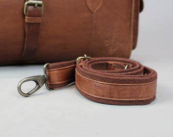Brown leather bag strap replacement shoulder bag luggage holdall mens womens