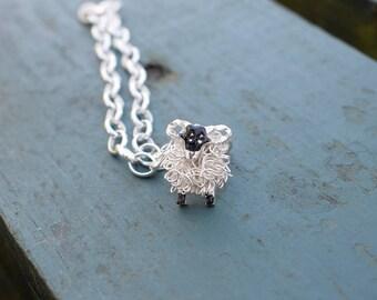 Silver Swaledale sheep charm & bracelet, swaledale sheep, yorkshire, blackface sheep, sheep bracelet, sheep charm, sheep jewellery, sheep