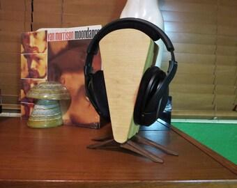 Spire - érable et noyer minimaliste casque Stand