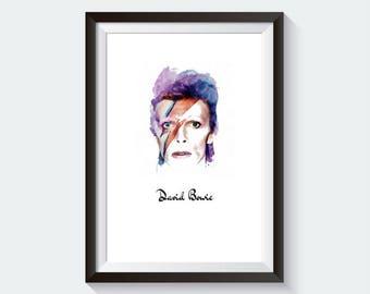 David Bowie Poster | David Bowie Print | David Bowie Gift | Bowie Poster | Bowie Print | Ziggy Stardust | Music Poster | Music Prints
