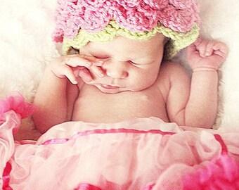 PDF 124 Pretty Posey Beanie Newborn Crochet Pattern