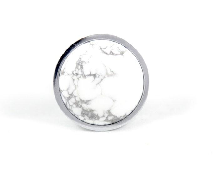 Greek Statue--White Marble Knob