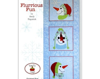 "Pattern ""Flurrious Funn"" by Hissyfitz Designs Wall Hanging or Table Runner Paper Pattern"