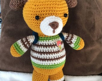 Crochet Little dog with backpack