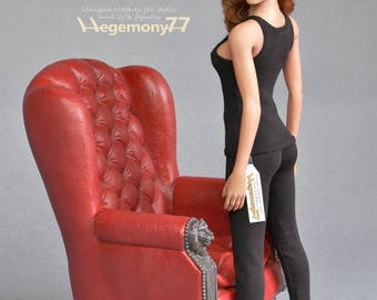 1/6th scale black leggings for collectible poseable female figure bodies for example Phicen / TBLeague